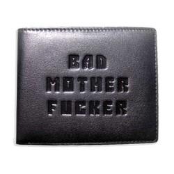 Bad Mother Fucker portefeuille noir / embossé