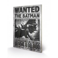 Batman Arkham Origins tableau bois Wanted 46 x 77 cm