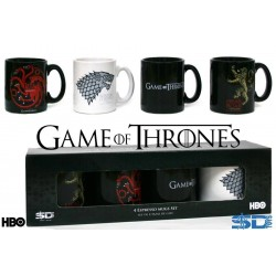 Game of Thrones Set 4 mini Mug Tasses Expresso